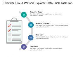 Provider Cloud Watson Explorer Data Click Task Job