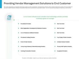 Providing Vendor Management Solutions To End Customer Effective IT service Excellence Ppt Example