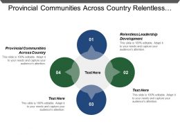 Provincial Communities Across Country Relentless Leadership Development Flex Organization