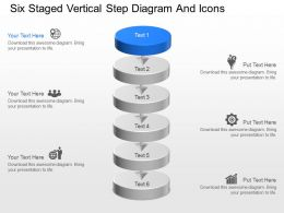 ps Six Staged Vertical Step Diagram And Icons Powerpoint Template
