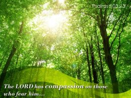 Psalms 103 13 The LORD Has Compassion On Those Powerpoint Church Sermon