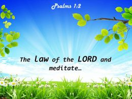 Psalms 1 2 The Law Of The LORD Powerpoint Church Sermon