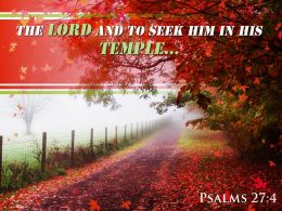Psalms 27 4 The LORD And To Seek Powerpoint Church Sermon