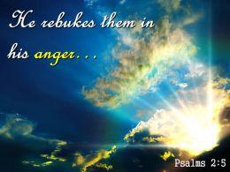 Psalms 2 5 Them In His Wrath Saying Powerpoint Church Sermon