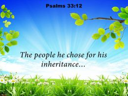 Psalms 33 12 The People He Chose Powerpoint Church Sermon