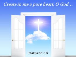 Psalms 51 10 Create In Me A Pure Heart Power Powerpoint Church Sermon