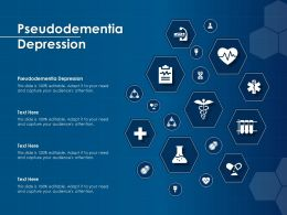 Pseudodementia Depression Ppt Powerpoint Presentation Ideas Rules