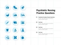 Psychiatric Nursing Practice Questions Ppt Powerpoint Presentation Pictures Slides