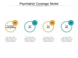 Psychiatrist Coverage Model Ppt Powerpoint Presentation File Samples Cpb