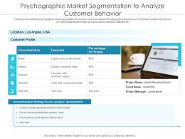 Psychographic Market Segmentation To Analyze Customer Behavior