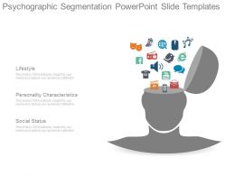 Psychographic Segmentation Powerpoint Slide Templates