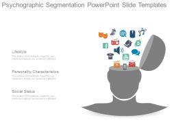 Psychographic Segmentation Powerpoint Slide Templates
