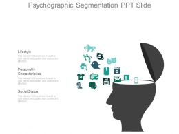 Psychographic Segmentation Ppt Slide