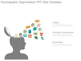 Psychographic Segmentation Ppt Slide Templates