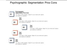 Psychographic Segmentation Pros Cons Ppt Powerpoint Presentation Layouts Summary Cpb
