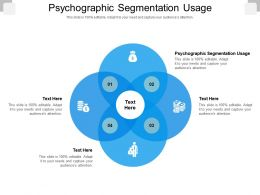 Psychographic Segmentation Usage Ppt Powerpoint Presentation Pictures Model Cpb