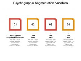 Psychographic Segmentation Variables Ppt Powerpoint Presentation Show Format Cpb