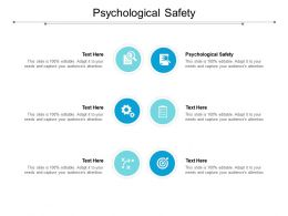 Psychological Safety Ppt Powerpoint Presentation Summary Infographics Cpb