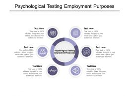 Psychological Testing Employment Purposes Ppt Powerpoint Presentation Infographics File Formats Cpb