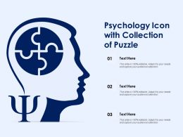 Psychology Icon With Collection Of Puzzle