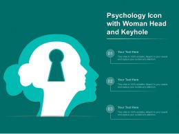 Psychology Icon With Woman Head And Keyhole