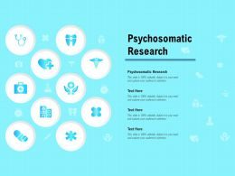 Psychosomatic Research Ppt Powerpoint Presentation Pictures Images