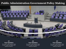 Public Administration Government Policy Making
