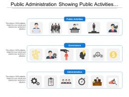 Public Administration Showing Public Activities And Governance