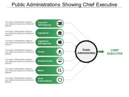 Public Administrations Showing Chief Executive Legislatures And Courts