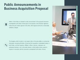 Public Announcements In Business Acquisition Proposal Ppt Slides