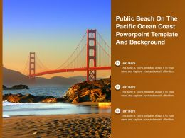Public Beach On The Pacific Ocean Coast Powerpoint Template And Background