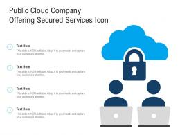 Public Cloud Company Offering Secured Services Icon