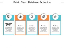 Public Cloud Database Protection Ppt Powerpoint Presentation Infographics Template Cpb