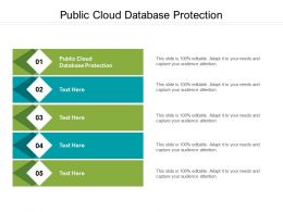 Public Cloud Database Protection Ppt Powerpoint Presentation Pictures Professional Cpb