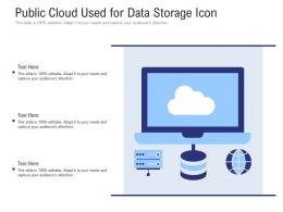 Public Cloud Used For Data Storage Icon