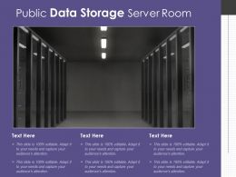 Public Data Storage Server Room