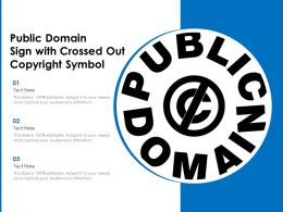 Public Domain Sign With Crossed Out Copyright Symbol