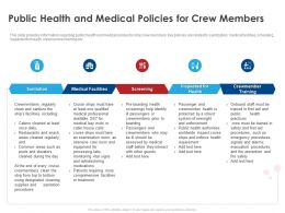 Public Health And Medical Policies For Crew Members Ppt Gallery Styles