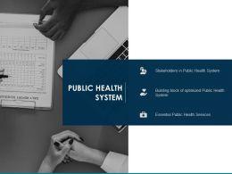 Public Health System Public Health Services Ppt Powerpoint Presentation Visual Aids Professional