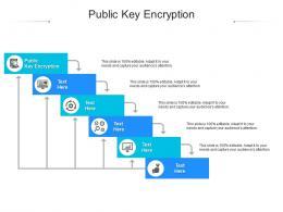 Public Key Encryption Ppt Powerpoint Presentation Summary Ideas Cpb