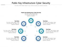 Public Key Infrastructure Cyber Security Ppt Powerpoint Presentation Ideas Graphics Template Cpb