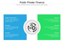 Public Private Finance Ppt Powerpoint Presentation Summary Samples Cpb