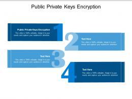 Public Private Keys Encryption Ppt Powerpoint Presentation Professional Design Inspiration Cpb