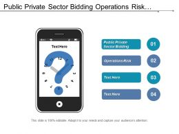 Public Private Sector Bidding Operations Risk Performance Improvement Cpb