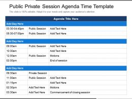 Public Private Session Agenda Time Template