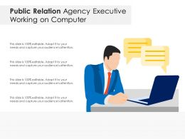 Public Relation Agency Executive Working On Computer