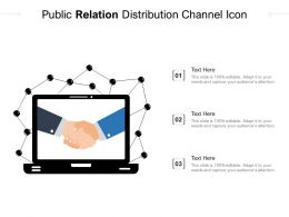 Public Relation Distribution Channel Icon