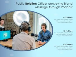 Public Relation Officer Conveying Brand Message Through Podcast