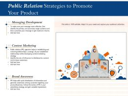 Public Relation Strategies To Promote Your Product