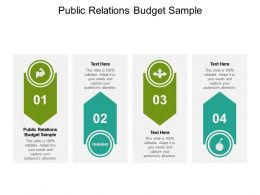 Public Relations Budget Sample Ppt Powerpoint Presentation Model Pictures Cpb